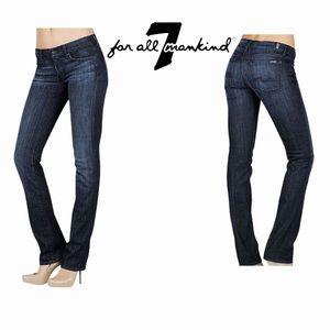 7 For All Mankind Dark Rinse Straight Leg Jeans